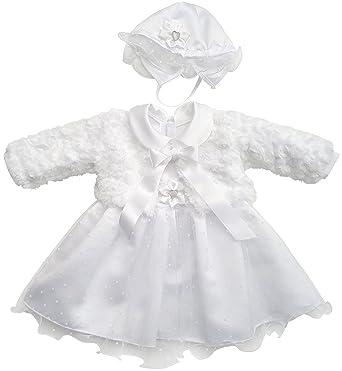 Kleid Babykleid Taufkleid Festkleid Bolero Jacke Mädchen Baby Taufe ...
