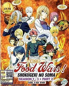 FOOD WARS! SHOKUGEKI NO SAMA (SEASON 1-3 + PART 2) - COMPLETE ANIME TV SERIES DVD BOX SET (61 EPISODES)
