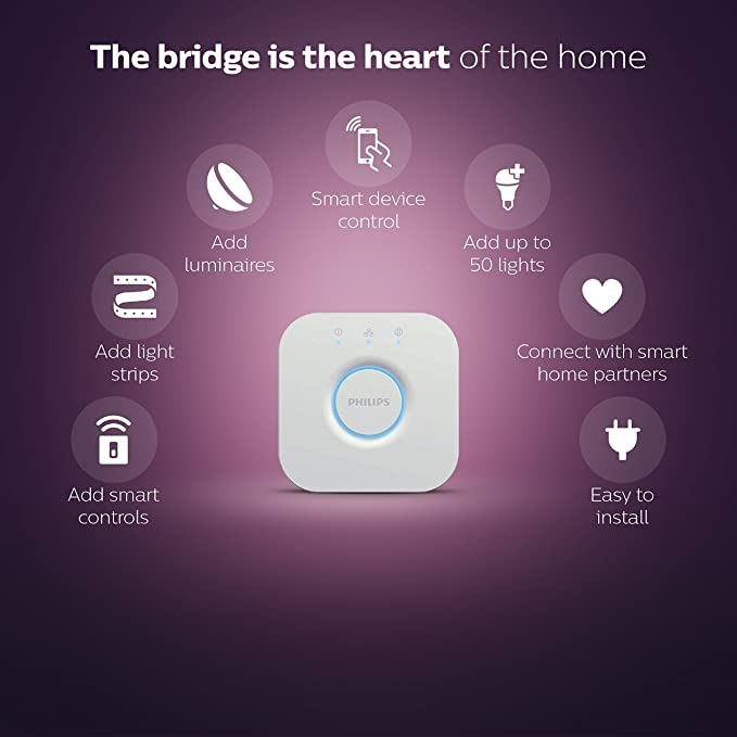 Philips Hue Smart Hub (Works with AlexaÃàApple HomeKit and Google Assistant)