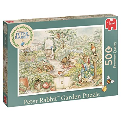 Jumbo 19479 Peter Rabbit Garden Jigsaw Puzzle, Green: Toys & Games