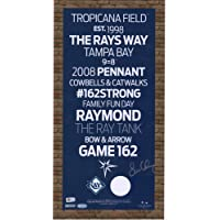 """$119 » Evan Longoria Tampa Bay Rays Autographed 5"""" x 19"""" Subway Sign with Game Used Dirt - Fanatics Authentic Certified"""