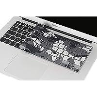 Lenfech Cubre Teclado para MacBook 2012 - 2015 Pro 13 y 15, Air 13/ Retina 15 y Mac Book 2010 - 2017 Air 13. Protector de Teclado en Español de Silicón / Silicona. Protege de Líquidos, Suciedad, Comida y Polvo! Disponible en 13 Colores. (Camuflaje Gris)