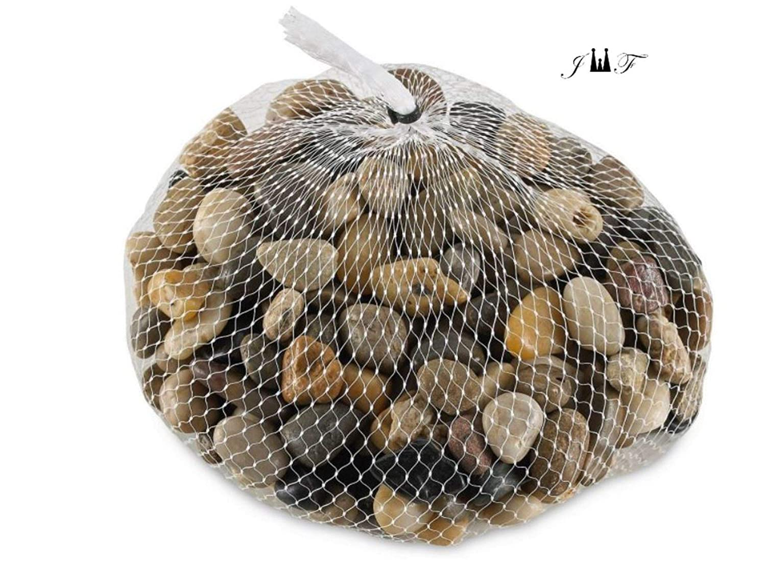 2 Pounds River Rock Stones - Natural Polished, Pebbles, Outdoor Decorative Stones, Natural Gravel, For Aquariums, Landscaping, Vase Fillers, Succulent, Tillandsia, Cactus pot, Terrarium Plants
