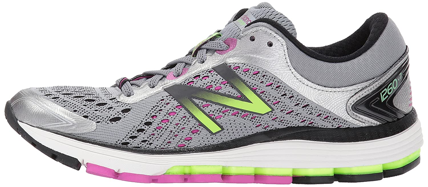 New Balance Women's 1260v7 Running Shoe B01MQLTZBE 8 2A US|Dark Grey/Purple