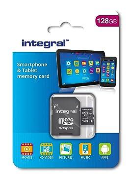Integral INTMSDX128GBC10 - Tarjeta de memoria micro SDXC (128 GB) color negro
