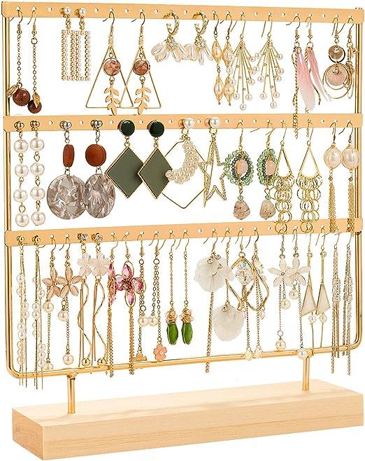 Wooden Earring Holder Display