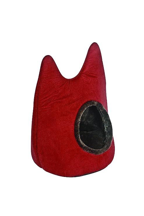Freedog FD1000468 - Cama iglú para Gato, Color Rojo