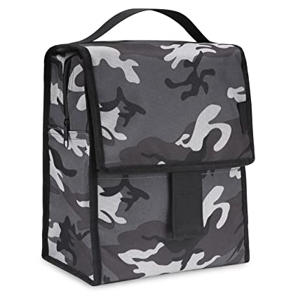 4e99effff7fb MoKo Insulated Lunch Bag, Reusable Cooler Tote Bag, Collapsible Multi-use  Lunch Box, Thermal Lunch Sack with Zipper Closure for Travel Picnic School  ...