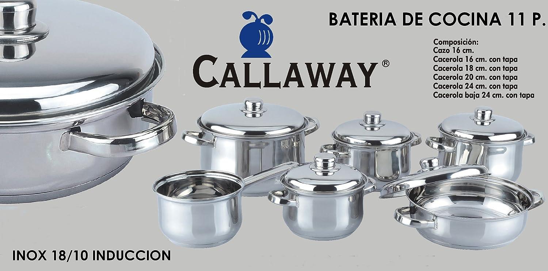 Bater A De Cocina Inducci N 11 Piezas Callaway 120052 Amazon Es  ~ Baterias De Cocina Para Placas De Induccion