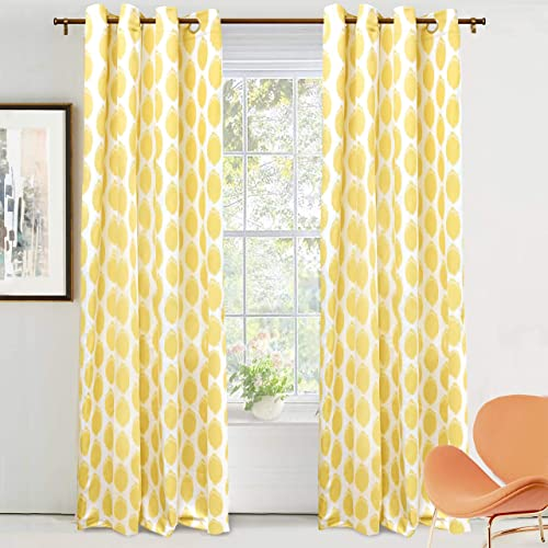 Deal of the week: DriftAway Allen Ikat Polka Dot Room Darkening and Thermal Insulated Grommet Unlined Window Curtains Set of 2 Panels 52 Inch