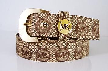 Amazon.com: Michael Kors MK Western Firma Logo Belt lona ...
