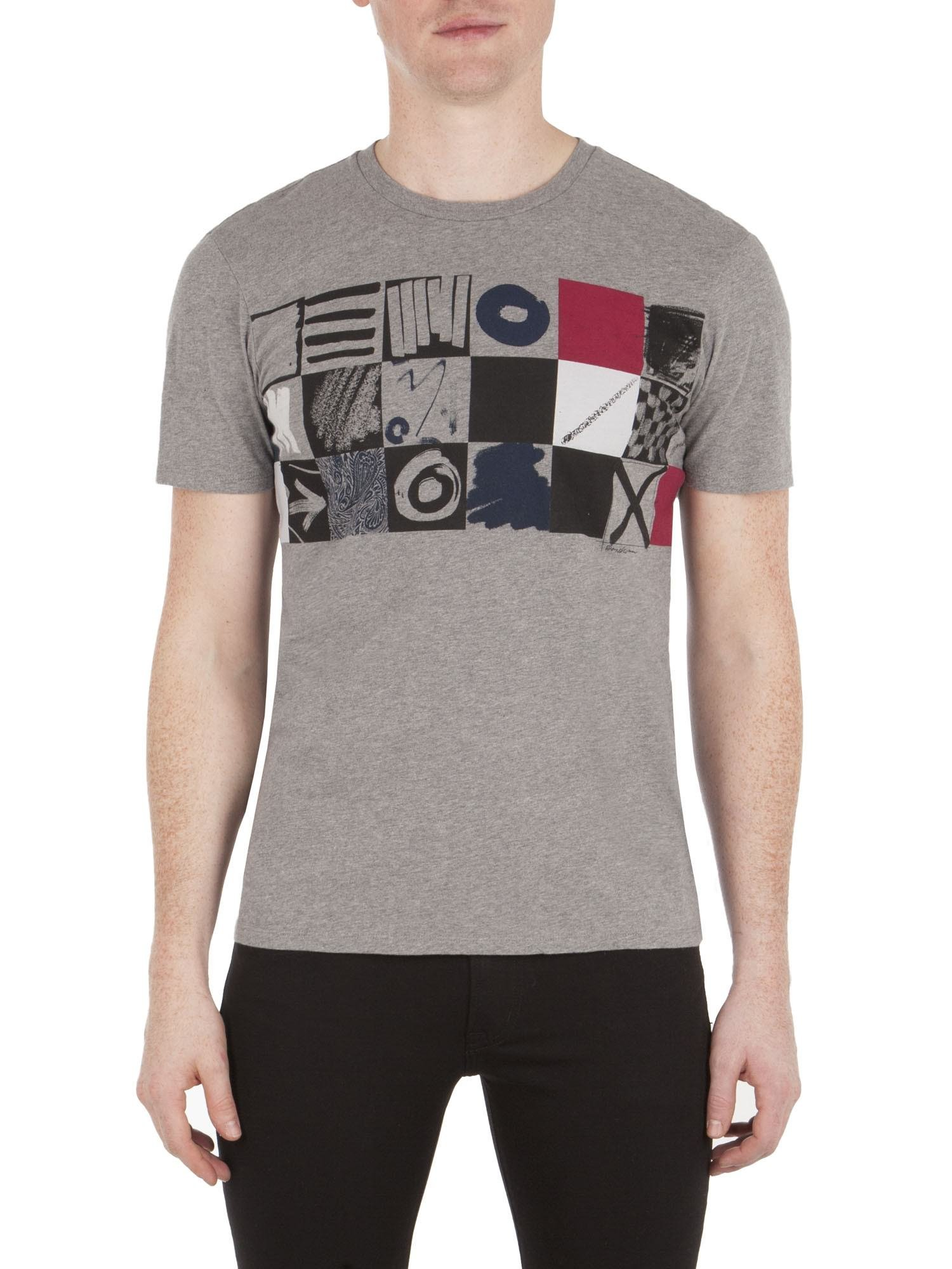 Ben Sherman Boxes T-Shirt - Mb13444 Charcoal L