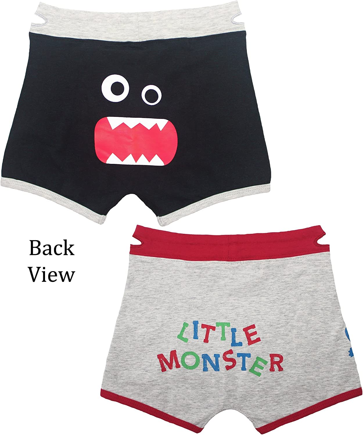 Boys Boxers Toddler Training Underwear with EZ Pull up Handles Tag Less