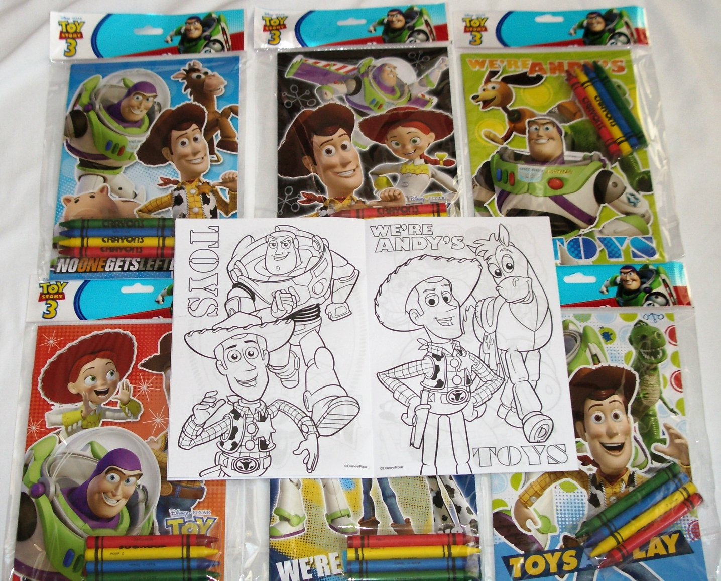 Amazon.com: 12 Sets of Disney Pixar Toy Story Coloring Books and ...