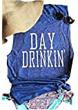 Women's Summer Day Drinkin' Casual Round-Neck Tank Tops Loose Casual Sleeveless Shirts
