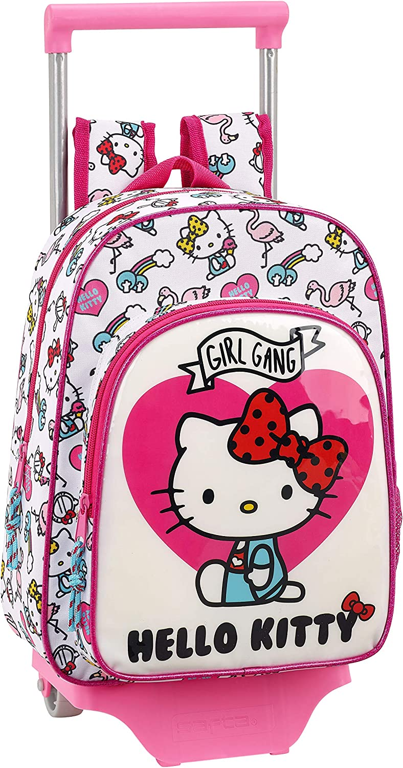 Rosa Hello Kitty 2018 Sac /à Dos Enfants Rose 34 cm