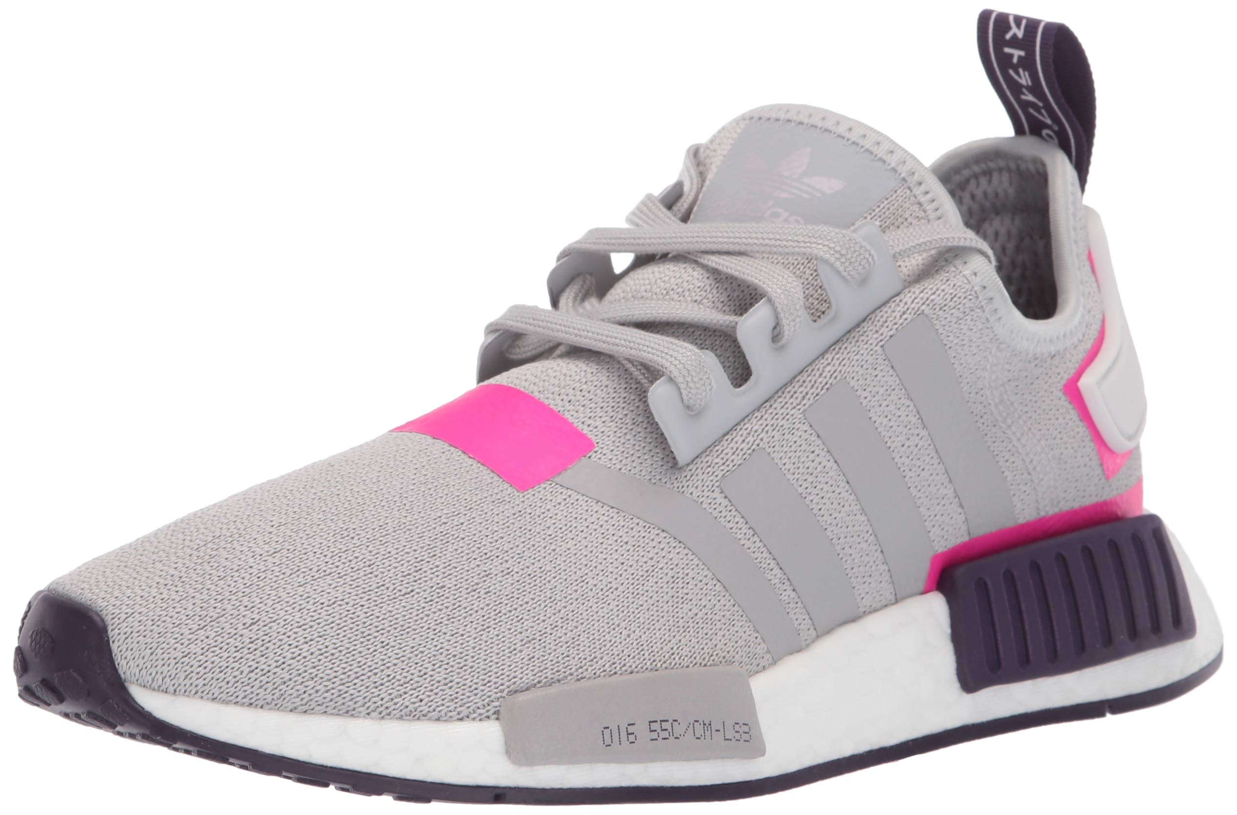 adidas Originals Women's NMD_R1 Running Shoe, Grey/Shock Pink, 5 M US