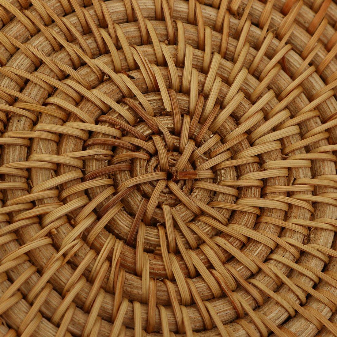 Amazon.com: Ratán Nation – redondo de ratán tejida a mano ...