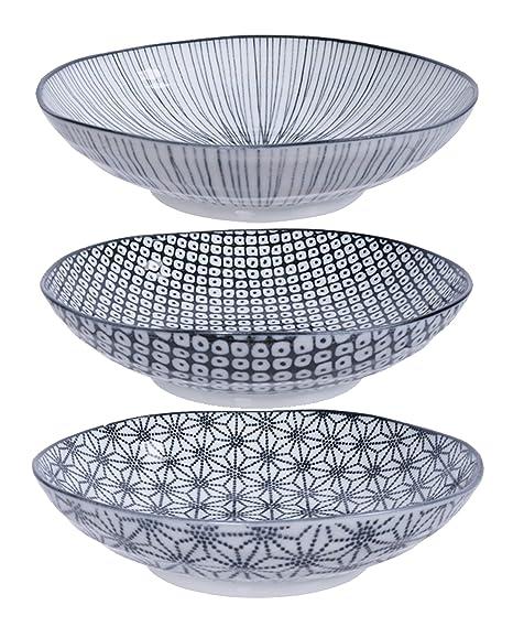 Nippon Black 4/Piezas 4/Cuencos Set 12/cm de di/ámetro Porcelana de Jap/ón Casalanas Tokyo Design Studio