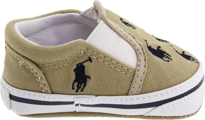 Ralph Lauren Layette Bal Harbor Repeat Beige Walking Shoes Shoes unisex-child SZ 1.5 UK