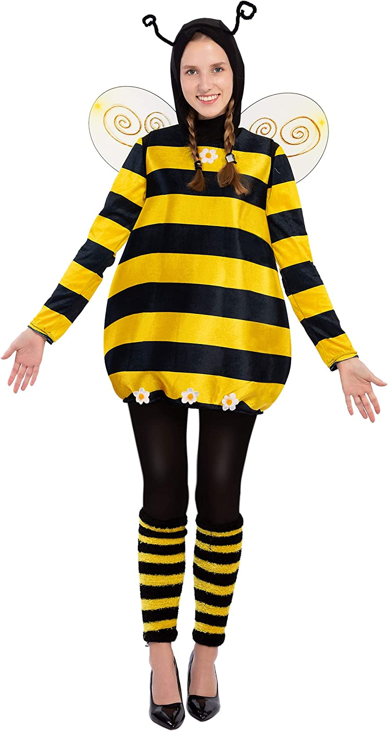 Spooktacular Creations Bee Yellow Costumes with Bee Accessories for Women Halloween Garden Bumble Bee Dress up Party