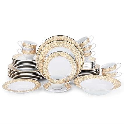 Mikasa Parchment Gold 42-Piece Dinnerware Set  sc 1 st  Amazon.com & Amazon.com | Mikasa Parchment Gold 42-Piece Dinnerware Set ...