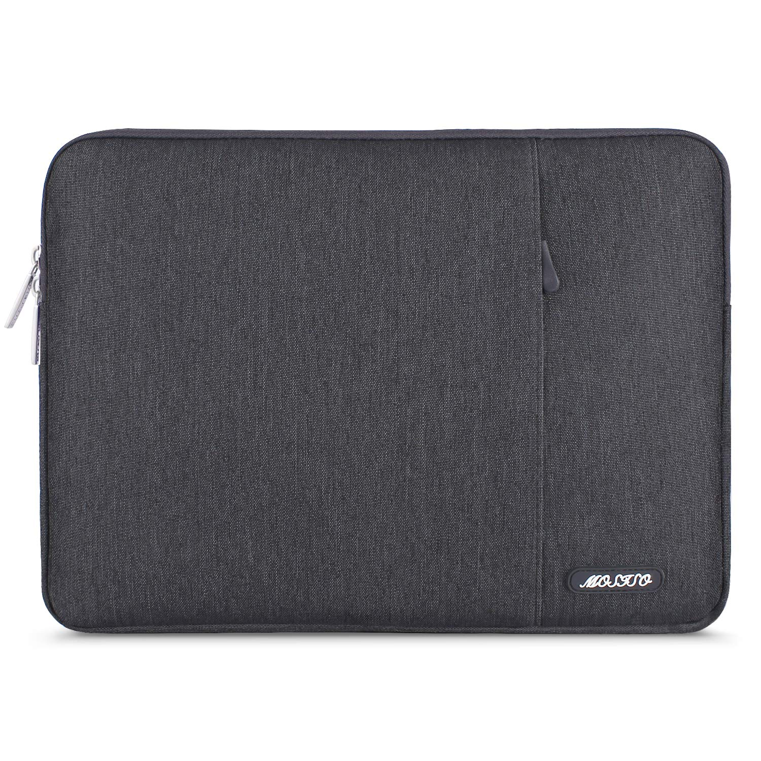 MOSISO Laptop Sleeve Bag Compatible with 13-13.3 inch MacBook Pro, MacBook Air, Notebook Computer, Vertical Style Water Repellent Polyester Protective Case Cover with Pocket, Space Gray