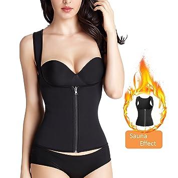 75500d2b958ba Zolkamery Womens Hot Sweat Vest Waist Trainer for Weight Loss ...