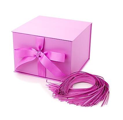 amazon com hallmark large gift box with fill light pink kitchen