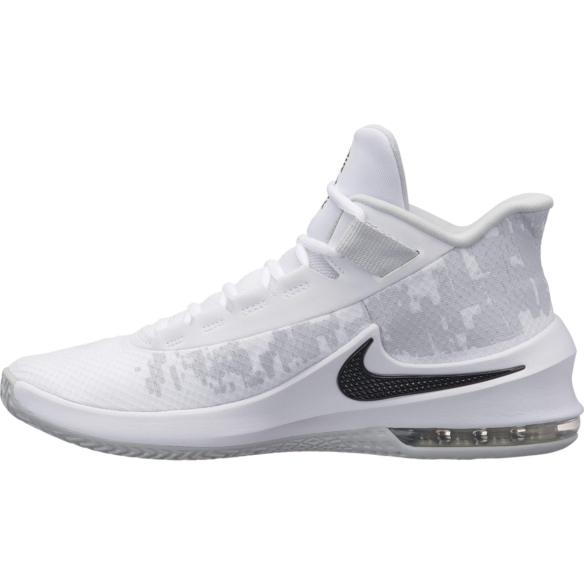 new arrival 9972a bce6a Galleon - Nike Men s Air Max Infuriate 2 Mid Basketball Shoe White Black Pure  Platinum Size 10.5 M US