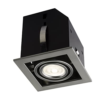 Bazz Cl311ab Cube Recessed Light Fixture Dimmable Directional Easy Installation Led Bulb Included 5 In Brushed Chrome