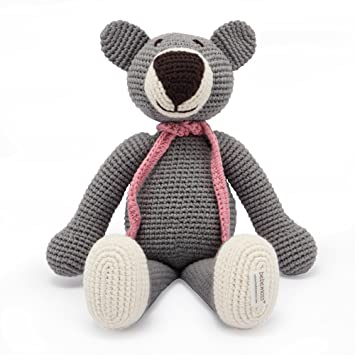 Organic Soft Baby Toys Hand Knitted Teddy Bear Toy With Organic