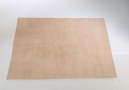 mit ca pflanzlich//vegetabil gegerbte Rindleder Gerberei Schachenmayr 80 x 40 cm gro/ßer Lederzuschnitt Wildleder 1,5-2 mm St/ärke Dickleder Velourleder Spaltleder