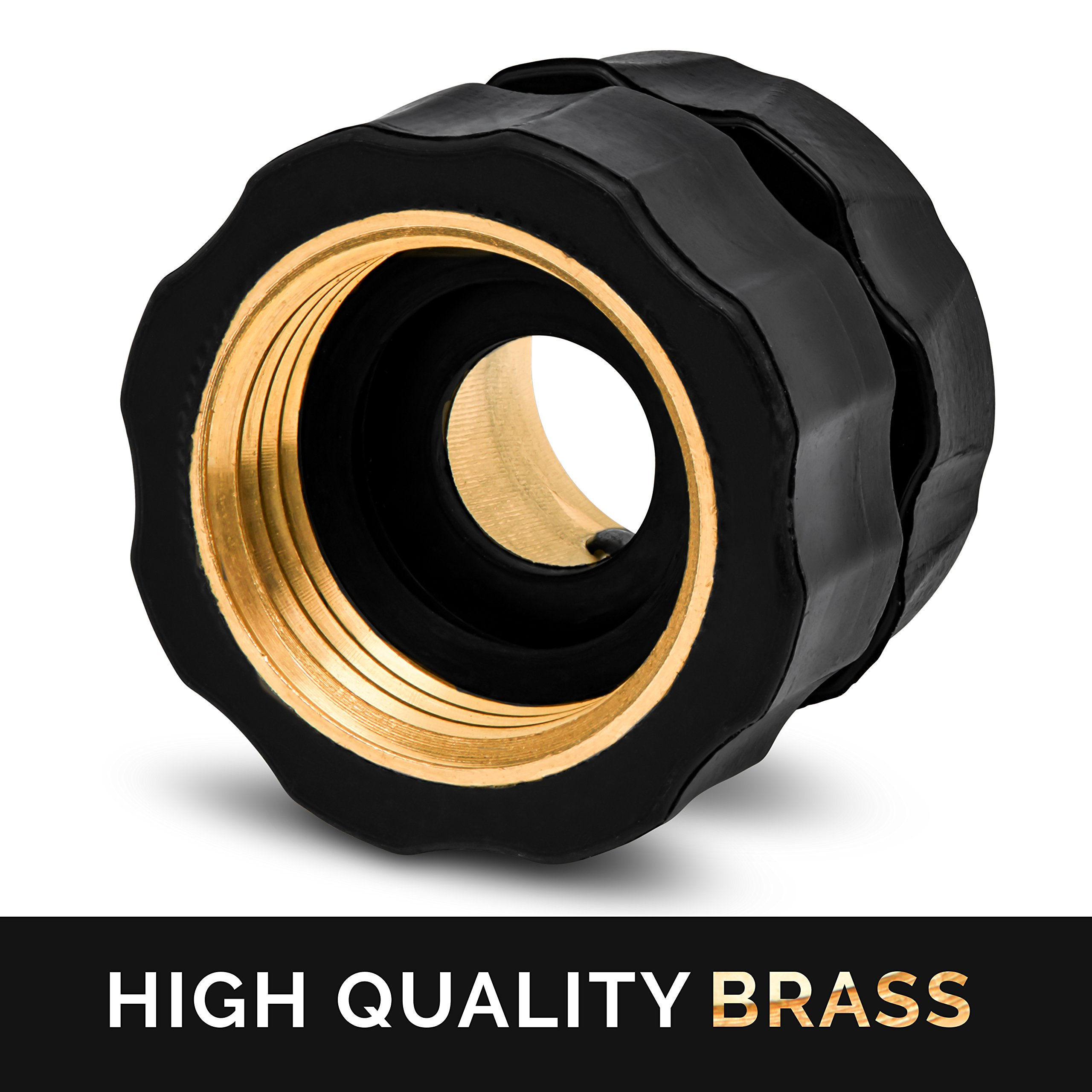 Morvat Brass Quick Hose Connector | Easily Add Attachments to Garden Hose | Great for Gardening, Washing, Sprayers, Nozzles, Sprinkler or Watering Tools | Pack of 6 by Morvat (Image #3)