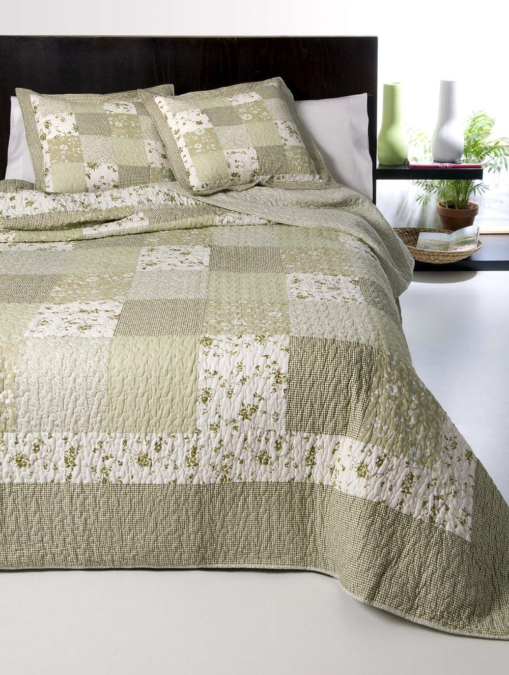 Colcha bouti algodón patchwork real modelo Zulema - cama 135 - medida 235x270 Atenas