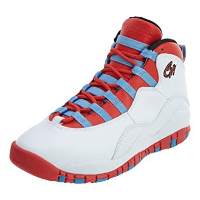 watch e499e b4e9b Jordan Kids Air 10 Retro GS, CHICAGO-WHITE/LT CRIMSON-UNIVERSITY  BLUE-BLACK, Youth Size 4.5