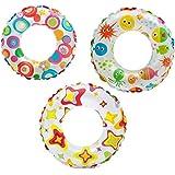 Intex Lively Print 24 inch Swim Ring, Multi Color