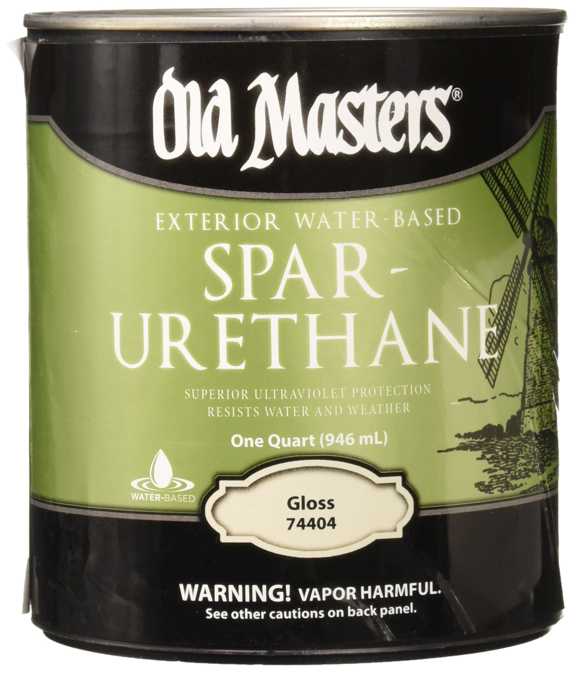 OLD MASTERS 74404 Water-Based Spar Urethane by Old Masters