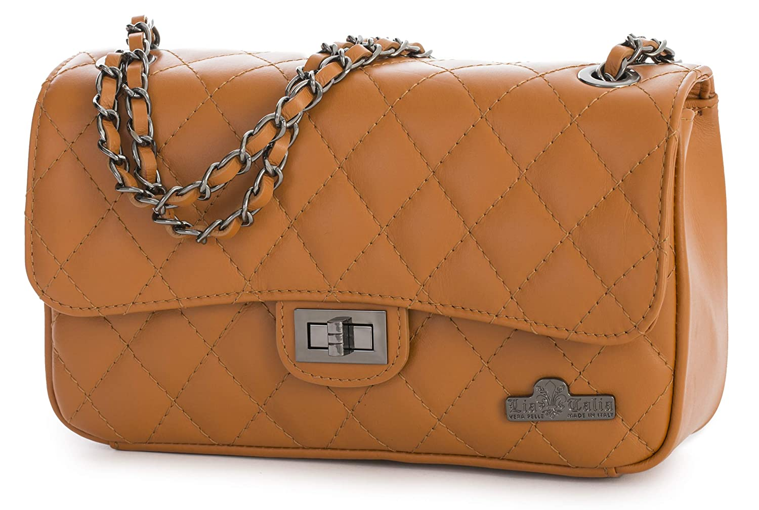 6d6750ef0c LIATALIA Womens Leather Clutch Bag - Ladies Quilted 100% Genuine Italian  Leather Evening Purse Handbag - Handmade Verapelle - CAROL: Amazon.co.uk:  Shoes & ...