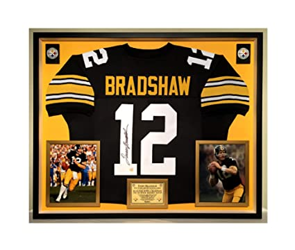reputable site 8ba5f 14e6c Premium Framed Terry Bradshaw Autographed/Signed Pittsburgh ...