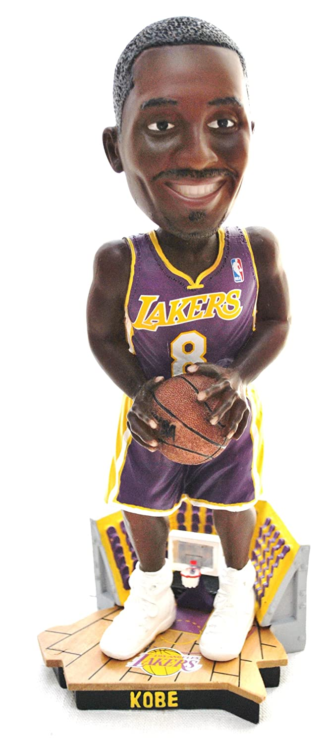 Amazon.com : Kobe Bryant Official NBA #8 courtside Bobble Head LA Lakers purple jersey by Forever : Sports Fan Bobble Head Toy Figures : Sports & Outdoors