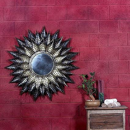 Buy The India Craft Decorative Wall Hanging Sun Mirror 37x37x3