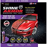 SHINE ARMOR Fortify Quick Coat High Performance Ceramic Coating, Car Wax Spray, Hydrophobic Top Coat Polish and Polymer Paint