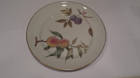 Royal Worcester Evesham Gold Fine Porcelain Dinner Plate, Oven To Table  Ware; Fine China