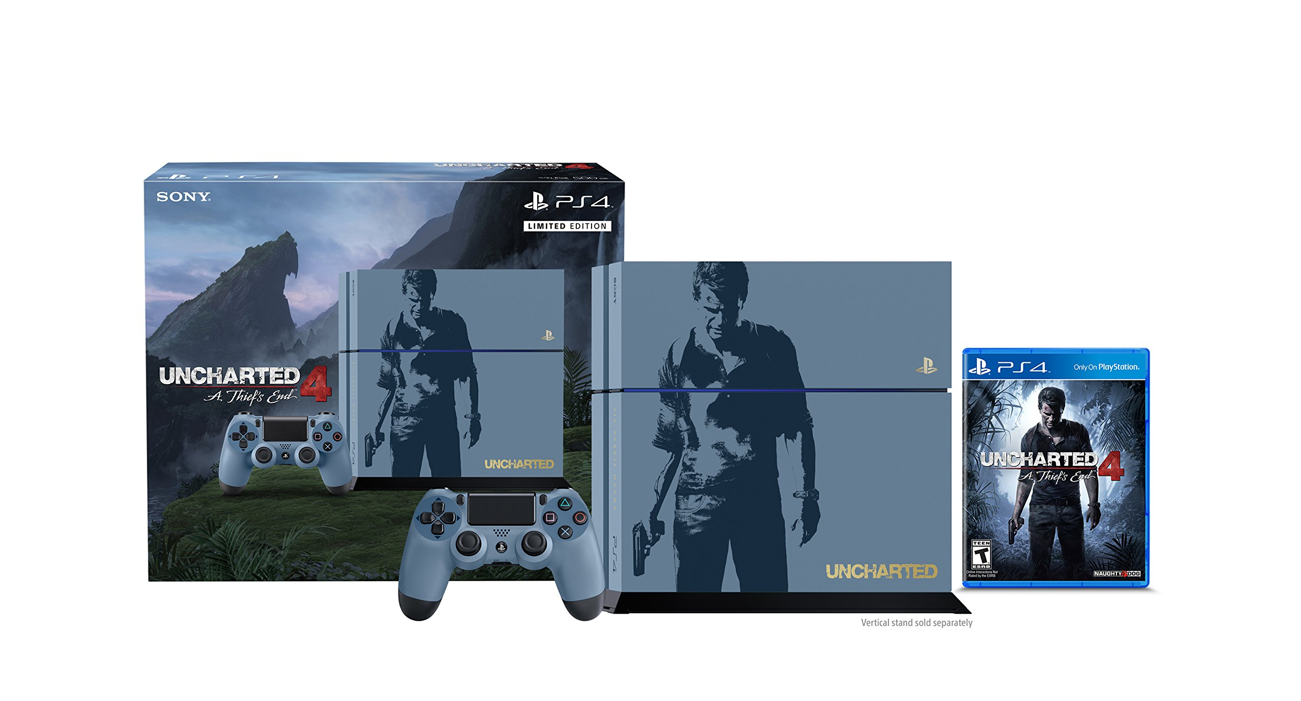 PlayStation 4 500GB Console - Uncharted 4 Limited Edition Bundle [Discontinued] by Sony