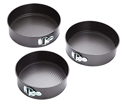 Kitchen Craft KCCAKESET3 - Moldes Para Pasteles, 22 x 24 x 26 cm, pack