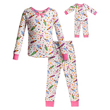 Dollie   Me Girls  Apparel Snug Fit Sleepwear Set and Matching Doll Outfit  in dfc8c4a89