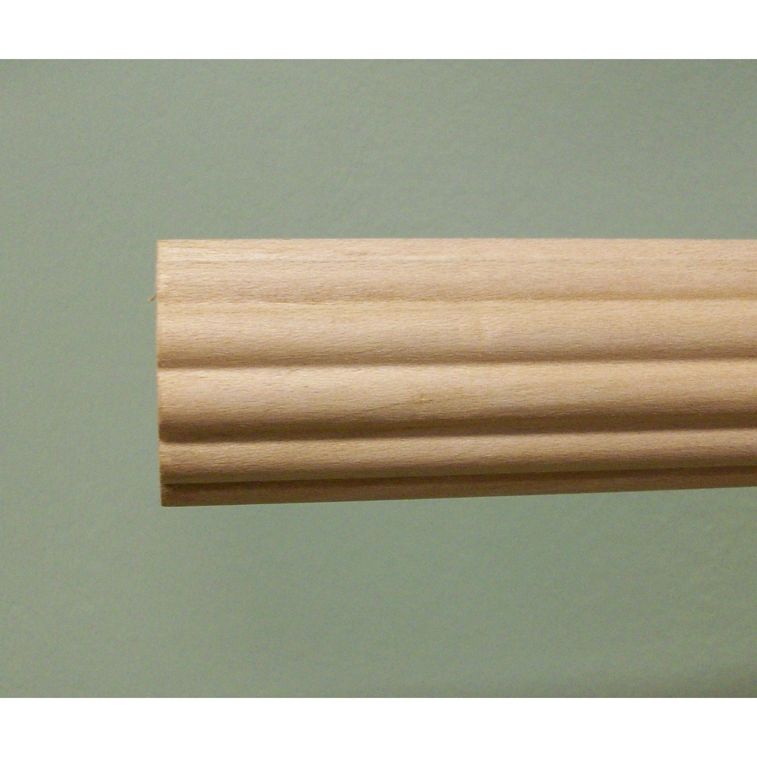 1-3/8 inch Wood Fluted Drapery Rod, UnFinished - 6' long [DISCOUNT AVAILABLE]