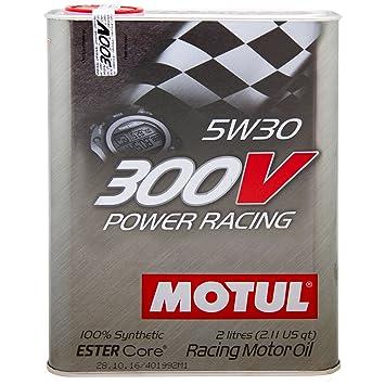 MOTUL 104241 300 V Power Racing 5 W-50 DE 30 2 l: Amazon.es: Coche y moto