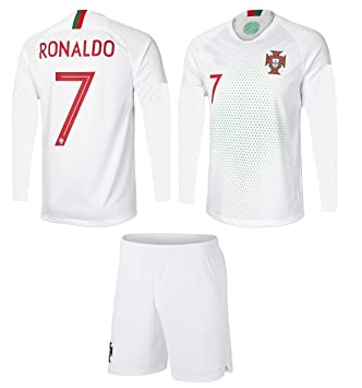 new concept df164 1e83b Portugal Cristiano Ronaldo #7 Soccer Jersey and Shorts Kids Youth Sizes  Home and Away Football World Cup Premium Gift